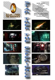Star Trek The Experience Klingon Borg 4D Rides DVD