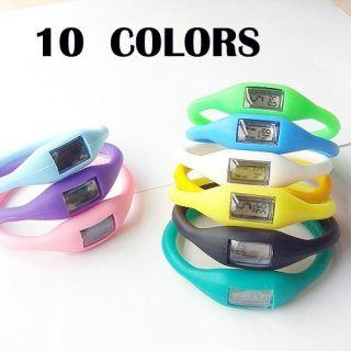 Multi Colors Bracelet Silicone Health Anion Wrist Watch Quartz Women