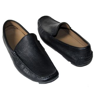 HUGO BOSS Black Drivers Loafers Dress Shoes 7 40 Mens Casual Moccasins
