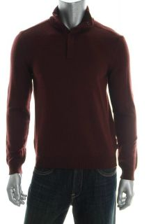 Boss Hugo Boss New Mens Pullover Sweater Red Ribbed Trim M