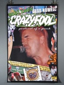 Sublime Crazy Fool, Bradley Nowell, Excellent Condition Poster
