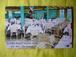 1970s Holmes Beach Yacht Club Restaurant Anna Maria Island FL Unused