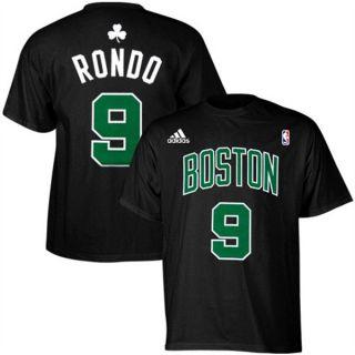 Boston Celtics Rajon Rondo Blk Jersey T Shirt Sz XL