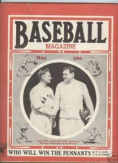Babe Ruh Boson Braves 1935 Baseball Magazine May