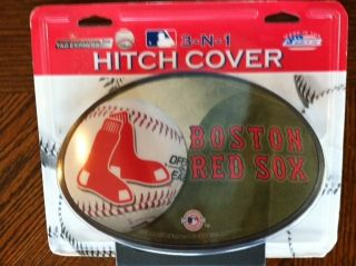 Boston Red Sox Hitch Cover 3 N 1 Brand New Grill Back or Trailer Hitch