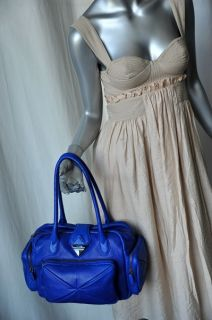 Botkier Blue Leather Med Ziggy Satchel Bag Handbag New