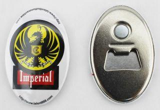 100 Sets Bottle Opener Keychain Magnetic Nickle Parts for Button Maker
