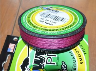 300yd 80lb Pink Color High Quality Dyneema Braid Fishing Line
