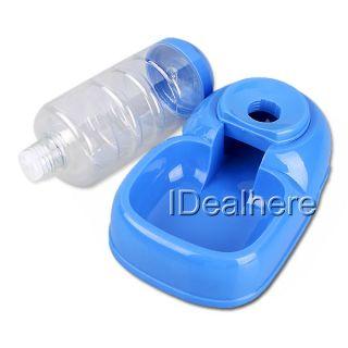 Drink Dog Pet Water Bottle Dish Bowl Dispenser Blue