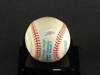 lou boudreau autographed signed baseball obal jsa