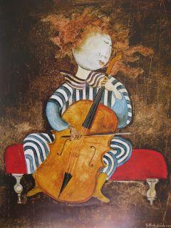 Graciela Rodo Boulanger Print 1977 Fille AU Violoncelle 251 2 x 291