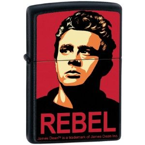 Zippo James Dean Rebel Poster Style Black Matte Lighter