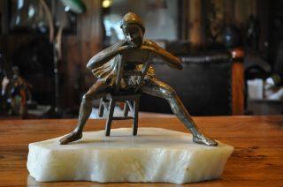 Bouchard Unknown Artist Ballerina Bronze Sculpture Numbered