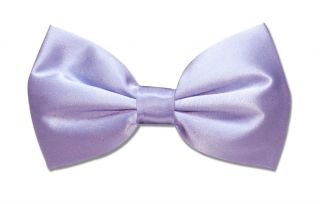 SILK BOWTIE Solid LILAC Purple Color Mens Bow Tie for Tuxedo or Suit