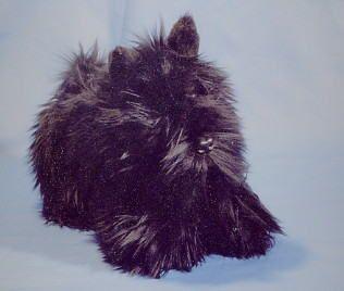BLACK BOUVIER DES FLANDRES PLUSH PUPPY REPLICA STUFFED ANIMAL