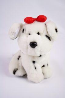 Spottie Dalmatian Dottie Puppy Dog Baby Rattle Plush 6 Red Bow