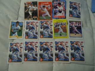 VINTAGE BRETT BUTLER MLB BASEBALL TRADING CARDS LOT TOPPS DONRUSS KC