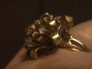 beautiful diamond dinner ring yellow gold vintage