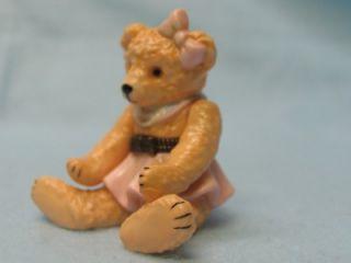 girl teddy bear trinket box phb midwest ret nib