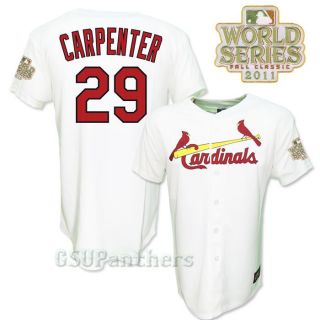 Chris Carpenter 2011 St Louis Cardinals World Series Home Jersey Youth