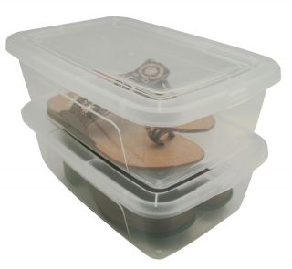 Boxes Shoe Organizers Plastic Storage Containers Bins MCB 34