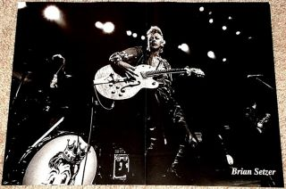BRIAN SETZER w. GRETSCH & STRAY CATS LIVE POSTER IMPORT
