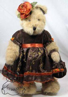 Whitney Wellington Teddy Bear Boyds Plush Toy Stuffed Animal Fall