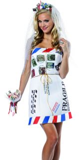 Womens Sexy Funny Mail Order Bride Wedding Halloween Costume