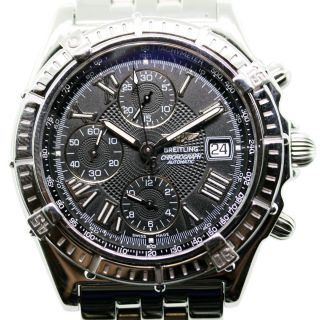 Breitling Windrider Crosswind A13055 Stainless Steel Watch