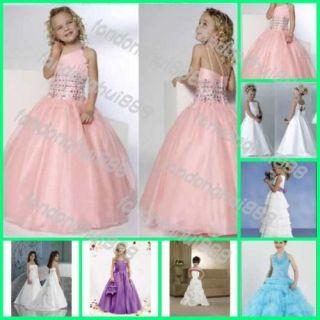 Girls Dress Wedding Dress Bridal Party Prom Lovely Children Dress