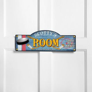 Hockey Kids Boys Girls Room Door Signs Plaque Gift Decor New