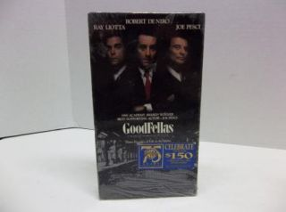 New Goodfellas VHS Mob Movie Tape Ray Liotta Robert DeNiro Joe Pesci