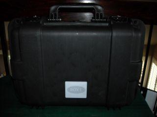 Boyt H Series Hard Sided Deep Double Handgun Black Travel Case
