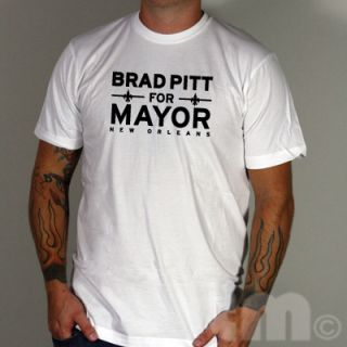 Brad Pitt for Mayor Nola American Apparel 2001 T Shirt
