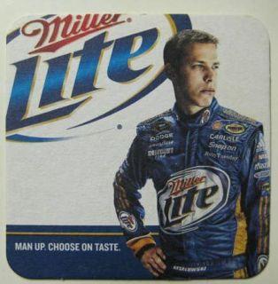 Miller Lite Beer Brad Keselowski Coaster Mat NASCAR Car