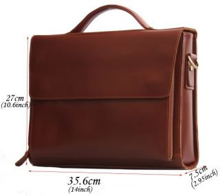 Thick leather Messenger Briefcases 13.1 laptop Bags Business Cases