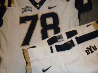 BYU Brigham Young Cougars Nike Authentic Game Used Football Jersey and
