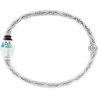 Brighton Chilly Snowman Charm Bangle Bracelet Great Gift Add Charms