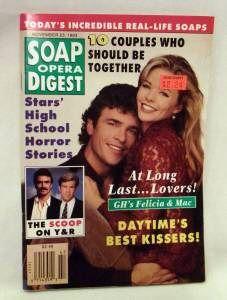 Soap Opera Digest Nov 11 1993 Eva LaRue Paola Seganti Catherine
