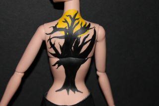 OOAK Fr Avenue George Repaint Restyle Flocked Hair Custom Spooky