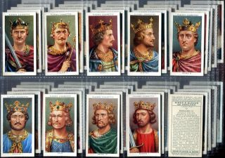 Tobacco Card Set, John Players & Sons, KING & QUEEN,HENRY VIII 1066 to