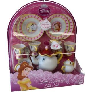 Disney Princess Beauty and The Beast Belles Talking Tea Set 17 Pieces