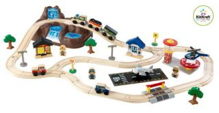 New 56 Piece Wood Brio Thomas Compatible Toy Train Set