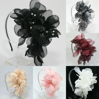 Oversized Flower Headband Wedding Bridal Hair Accessory