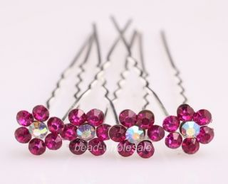 10pcs Bridal Jewelry Clear Crystal Rhinestone Hair Accessory Hair Pins