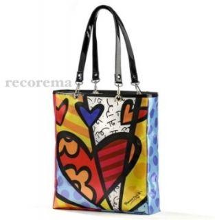 Romero Britto Med Satin Tote Bag w Detachable Strap NW