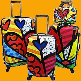 New Heys Britto Collection A New Day 4piece Luggage Set