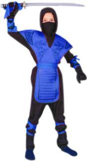 Childs Blue Ninja Dragon Halloween Costume Small 4 6 Medium 8 10