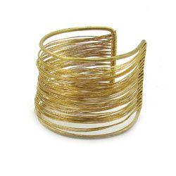 Wire Wrapped Brass Cuff Bracelet Fair Trade Winds