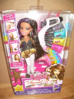 Bratz All Glammed Up Yasmin Designer Streaks Hair Styling Fashion Doll